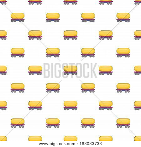 Tank car for gasoline pattern. Cartoon illustration of tank car for gasoline vector pattern for web