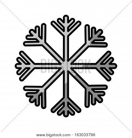 snowflake climate sign icon vector illustration design