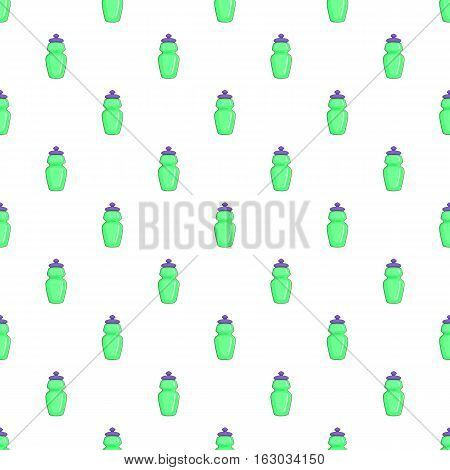 Flask for water pattern. Cartoon illustration of flask for water vector pattern for web