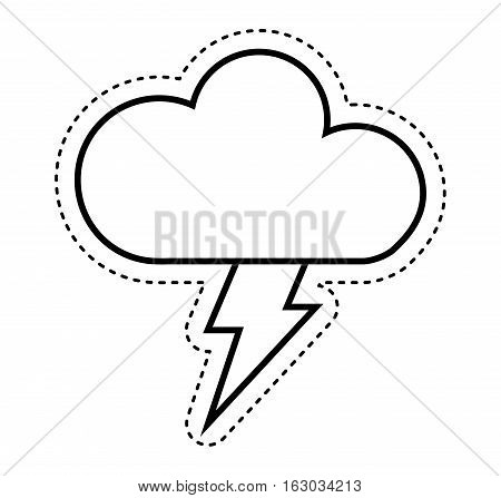 cloud with ray climate sign isolated icon vector illustration design