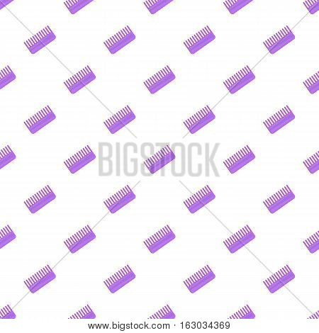 Toothed comb pattern. Cartoon illustration of toothed comb vector pattern for web