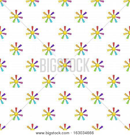 Sun in colours of LGBT pattern. Cartoon illustration of sun in colours of LGBT vector pattern for web