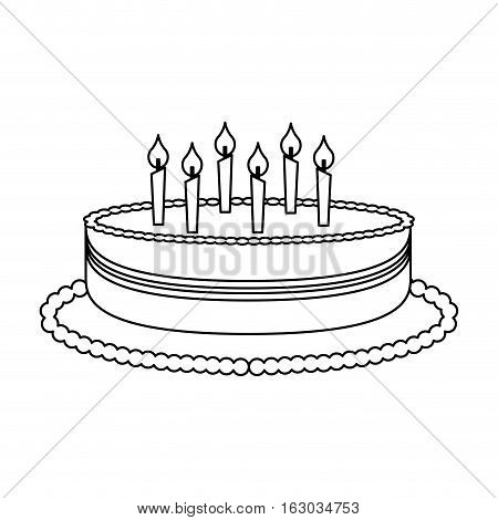 delicious sweet cake icon vector illustration design