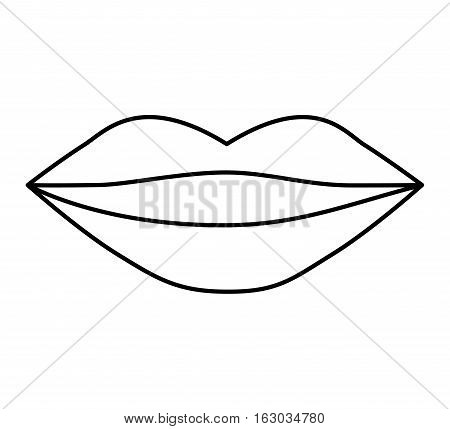 lips female drawing icon vector illustration design