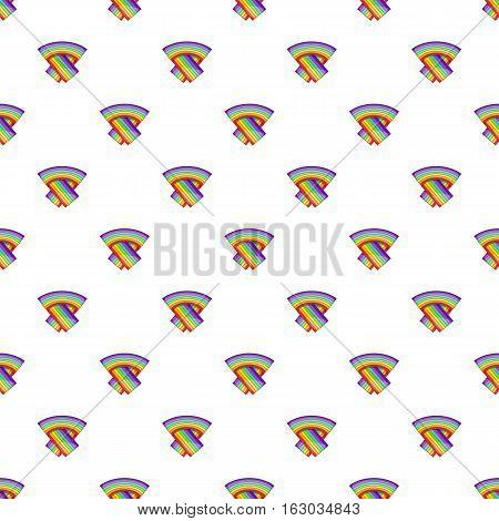 LGBT flag pattern. Cartoon illustration of LGBT flag vector pattern for web