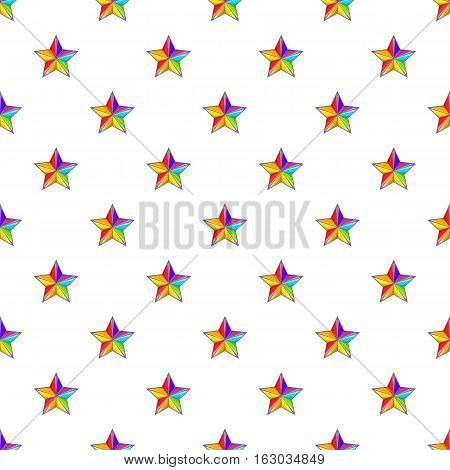 Star in colours of LGBT pattern. Cartoon illustration of star in colours of LGBT vector pattern for web