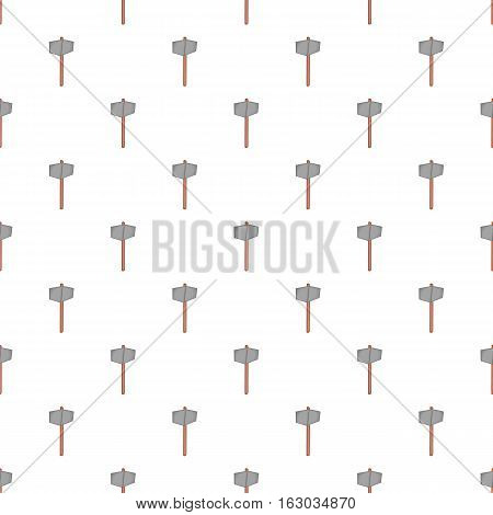 Sledgehammer pattern. Cartoon illustration of sledgehammer vector pattern for web