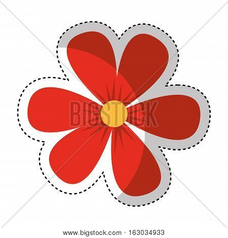 flower drawing isolated icon vector illustration design