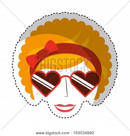 woman character afro style vector illustration design