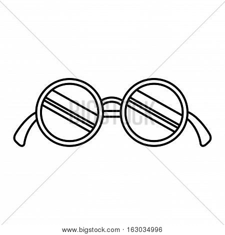 modern glasses isolated icon vector illustration design