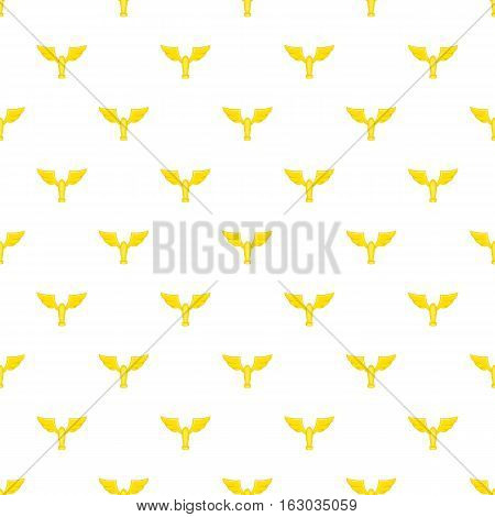 Gold cup with wings pattern. Cartoon illustration of gold cup with wings vector pattern for web