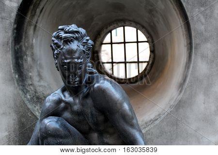 Fauno Statue by Leopoldo de Almeida, Chiado Museum, Lisbon, Portugal
