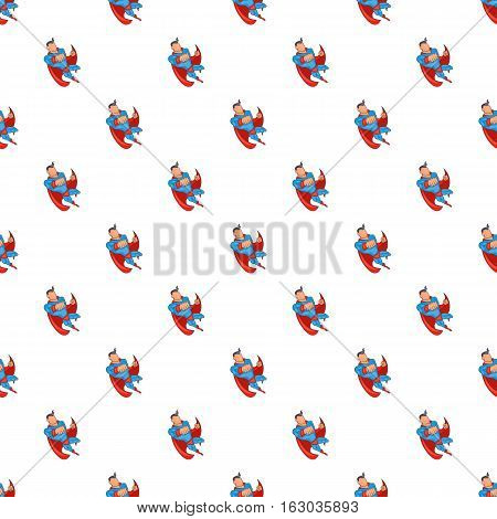 Superhero punches pattern. Cartoon illustration of superhero punches vector pattern for web