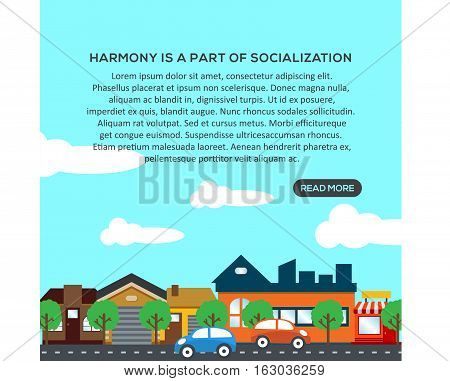Harmony Is a Part Of Socialization. This design is suitable for a brochure, banner or poster