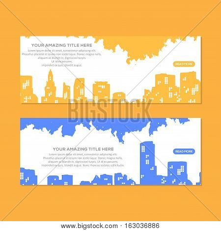 Amazing City Header Or Banner, This design is suitable for a brochure, banner or poster