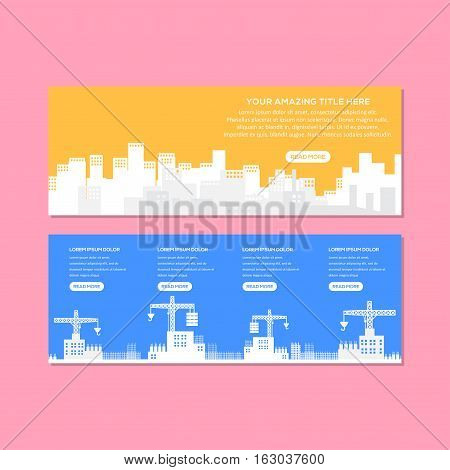 City Construction Banner Or Web site Header