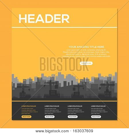 construction industry Background, Brochure, or Web Template