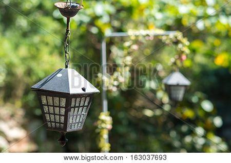 Decorative exterior garden lamp, outdoor light lamp