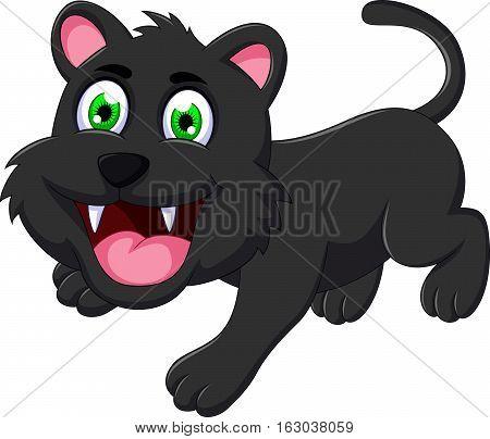 cute black cat cartoon for you design