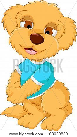 cute baby bear cartoon posing for you design