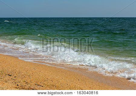Black Sea coast. Opuksky Reserve is located on the southern coast of Kerch Peninsula.