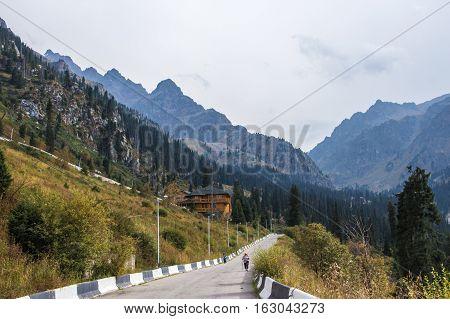 Almaty, Kazakhstan - August 29, 2016: House In Tuyuk-su Gorge. Tien Shan Mountains Near Shymbulak Sk