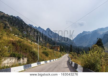 Almaty, Kazakhstan - August 29, 2016: House In Tuyuk-su Gorge. Tien Shan Mountains Near Shymbulak Sk