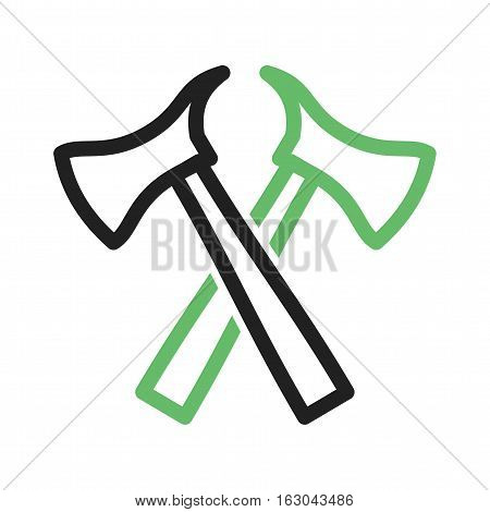 Firefighter, cut, axe icon vector image. Can also be used for firefighting. Suitable for use on web apps, mobile apps and print media.