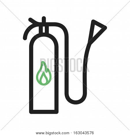 Fire, extinguisher, firefighter icon vector image. Can also be used for firefighting. Suitable for use on web apps, mobile apps and print media.