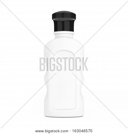 Blank White Hotel Cosmetic Bottle on a white background. 3d Rendering