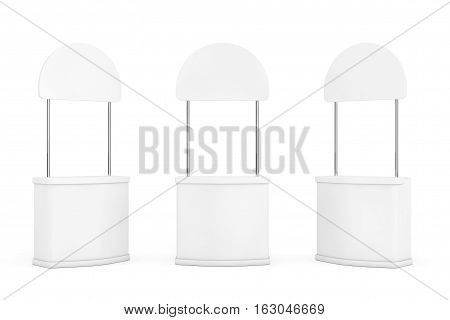 Blank Promotion Stands on a white background. 3d Rendering
