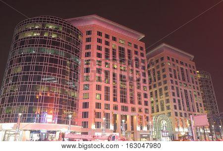BEIJING CHINA - OCTOBER 24, 2016: The mall at Oriental Plaza Wangfujing Beijing China