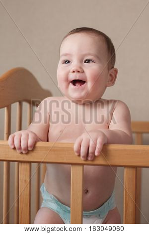 Adorable Happy Young Baby With A Lovely Smile