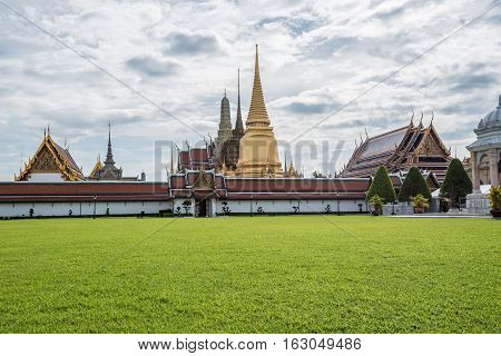 The Royal grand palace and Temple of the Emerald Buddha in Bangkok.