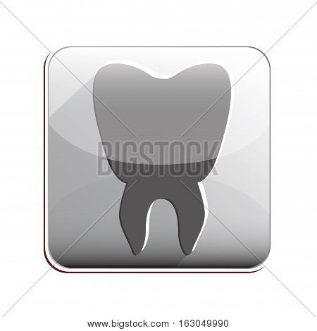 Tooth icon. Dental medical heath care and clininc theme. Isolated design. Vector illustration