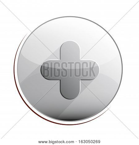 Cross shape icon. Medical heath care and hospital theme. Isolated design. Vector illustration