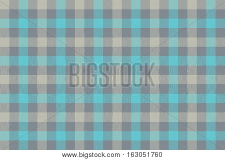 Gray blue check fabric texture background seamless pattern. Vector illustration. EPS 10.