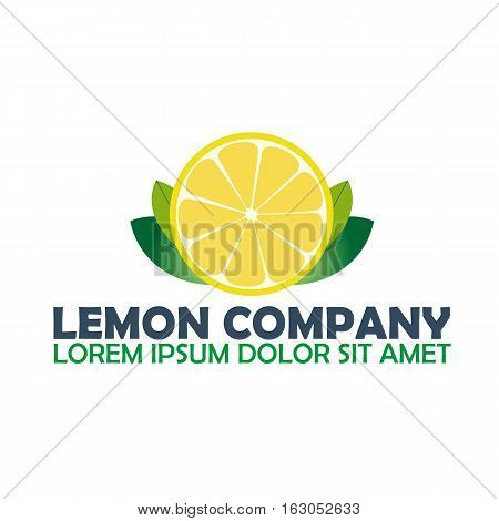 Lemon Logo Company. Citrus. Vector Logo Illustration.
