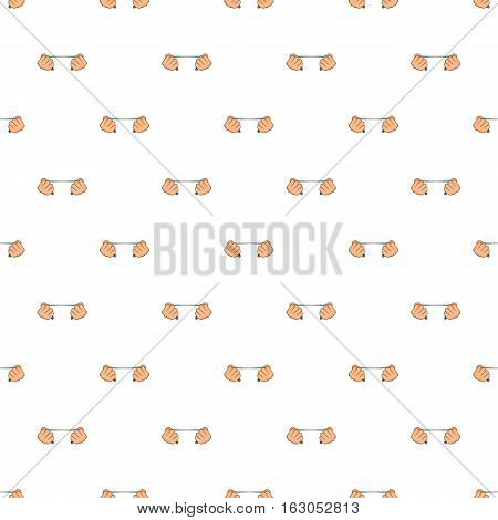 Hands stretch expander pattern. Cartoon illustration of hands stretch expander vector pattern for web