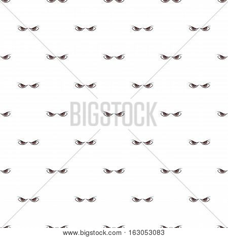 Gloomy eyes pattern. Cartoon illustration of gloomy eyes vector pattern for web