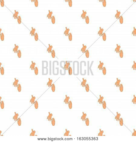 Hand reaches out pattern. Cartoon illustration of hand reaches out vector pattern for web