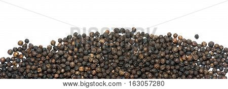 Peppercorns isolated on white background - Macro photography