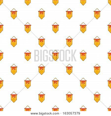 Flag football team pattern. Cartoon illustration of flag football team vector pattern for web