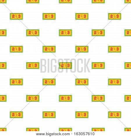 Football score pattern. Cartoon illustration of football score vector pattern for web