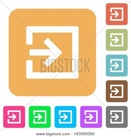 Import icons on rounded square vivid color backgrounds.