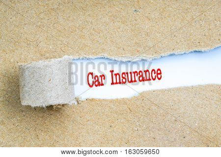 Insurance With Red Text.
