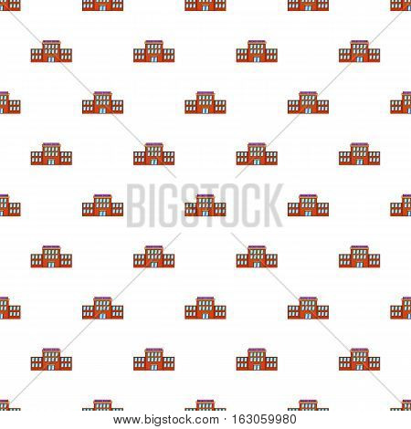 Railway station pattern. Cartoon illustration of railway station vector pattern for web