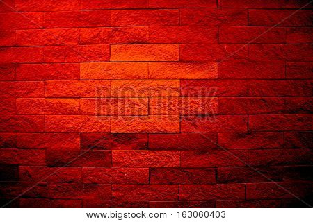 Blurred devilish wall - with stron red color