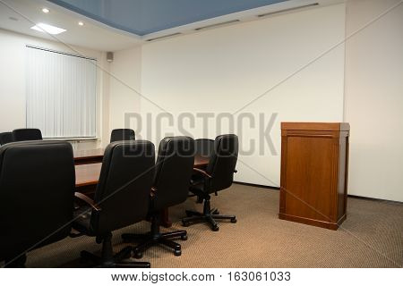 Tribune In Conference Room