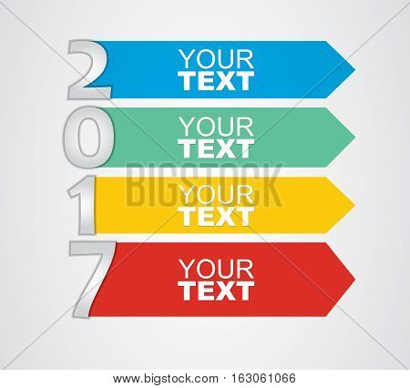 Happy New Year - illustration for business presentation